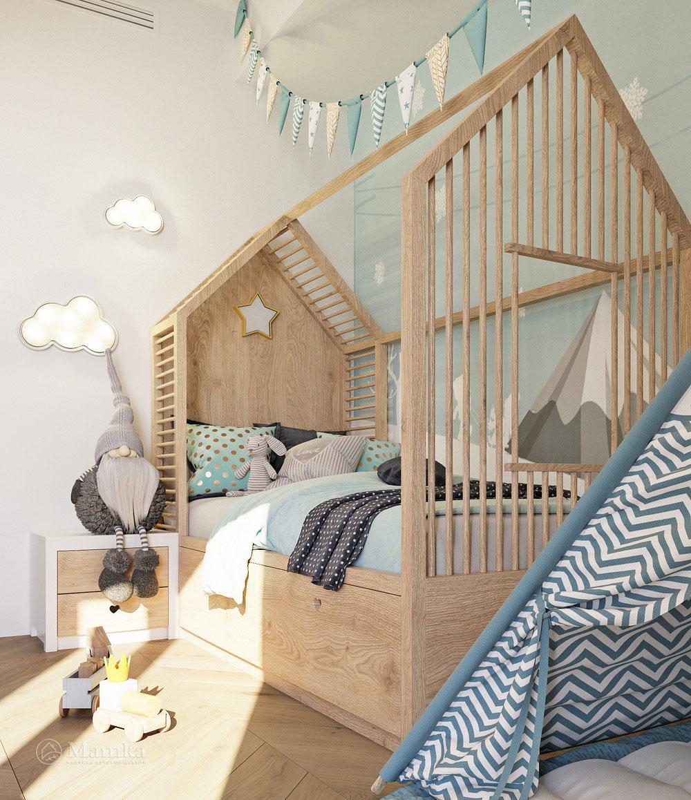 Комфортный дизайн детской зоны с практичной планировкой 3