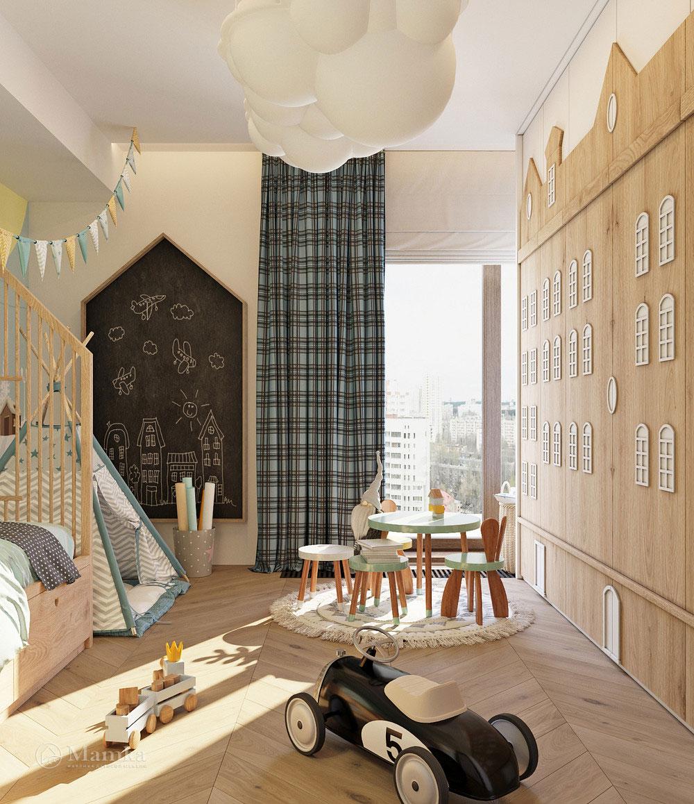 Комфортный дизайн детской зоны с практичной планировкой 4