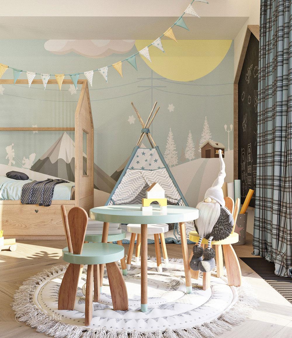 Комфортный дизайн детской зоны с практичной планировкой 5