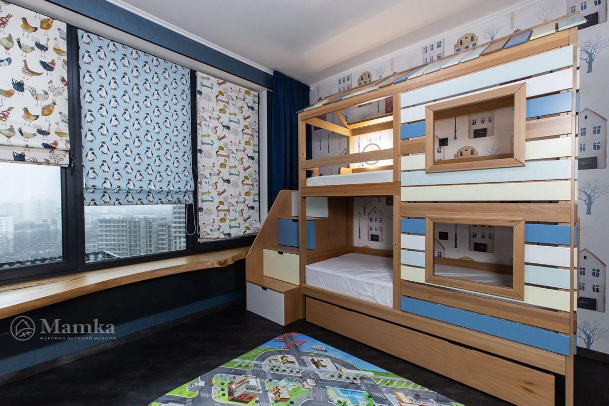 Детская комната для мальчика с необычной зоной отдыха фото 5