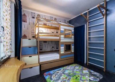 Комната 12 кв. м. для мальчика с необычной зоной отдыха