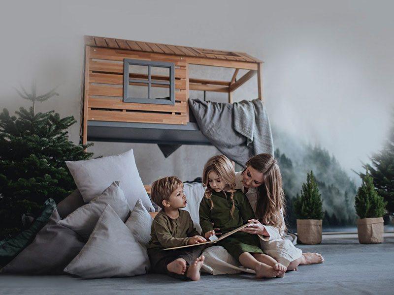 Кровать домик для 2 детей Твин