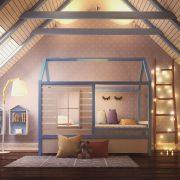 Детская кровать домик Дом Звездочета – фото