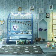 Кровать домик в скандинавском стиле