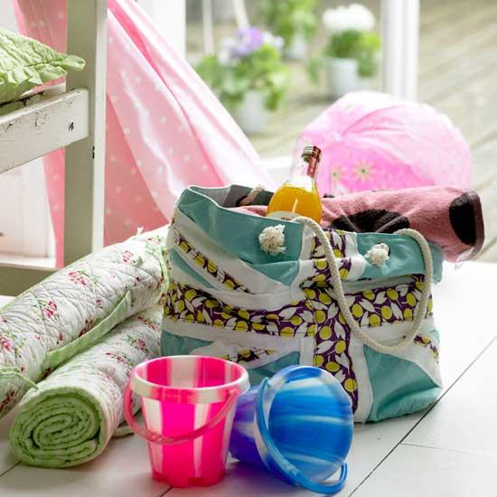 Летние идеи дизайна детской: пляжная сумка