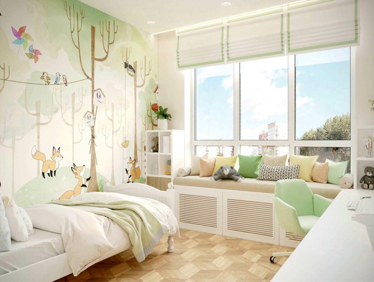 Мебель детской для девочки проект 3075-1-1
