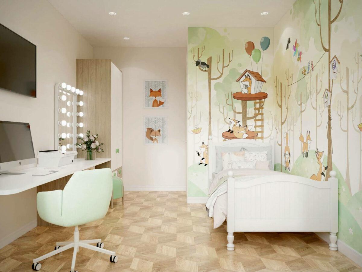Мебель детской для девочки проект 3075-1-4