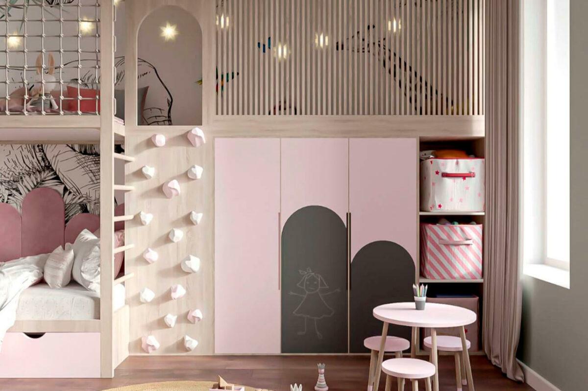 Мебель детской для девочки проект 4005-1