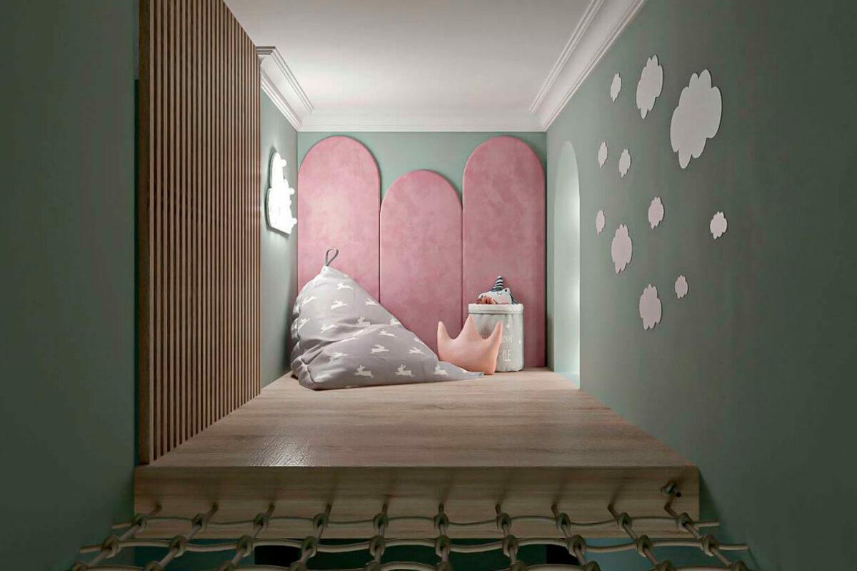 Мебель детской для девочки проект 4005-2