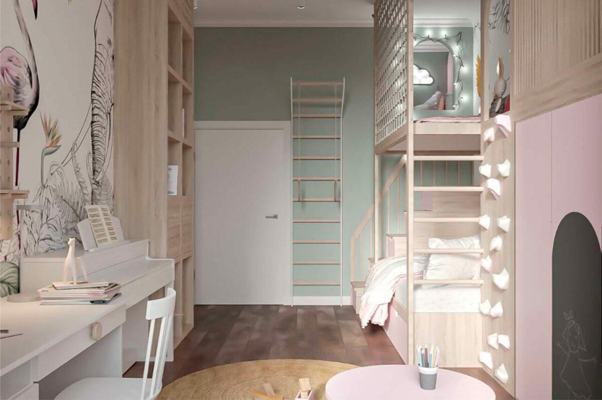 Мебель детской для девочки проект 4005-3
