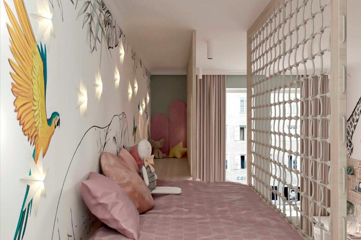 Мебель детской для девочки проект 4005-4