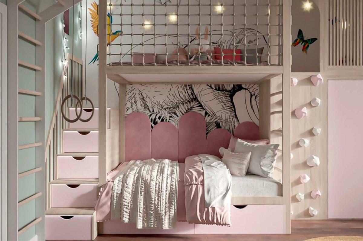 Мебель детской для девочки проект 4005-5