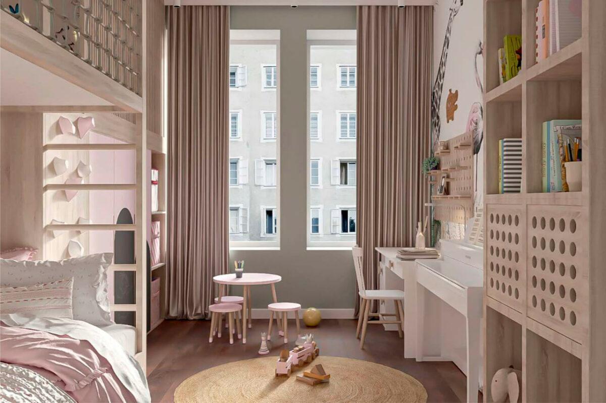 Мебель детской для девочки проект 4005-6