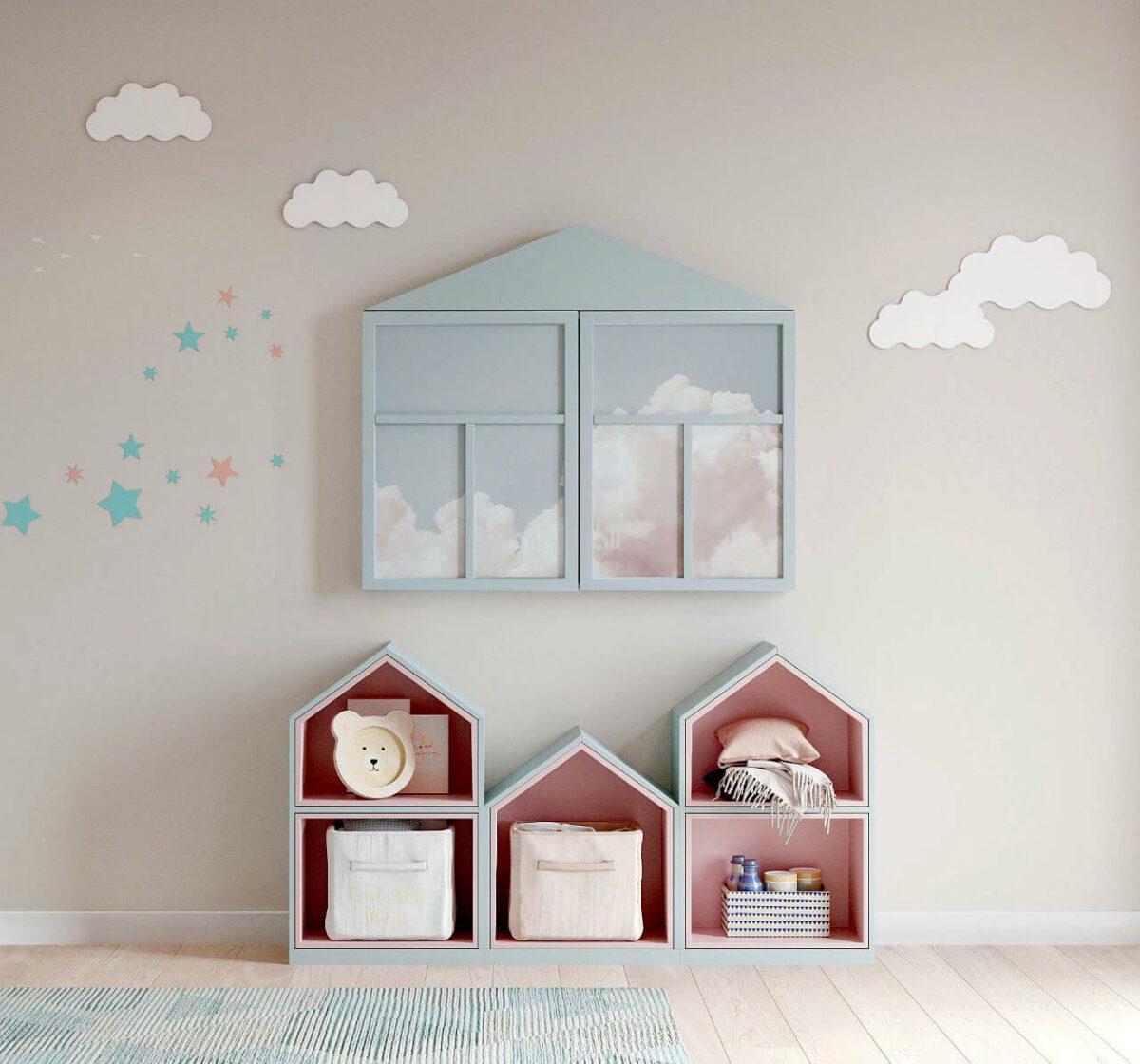 Мебель детской для девочки проект 4011-1
