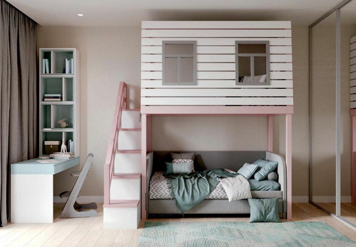 Мебель детской для девочки проект 4011-2