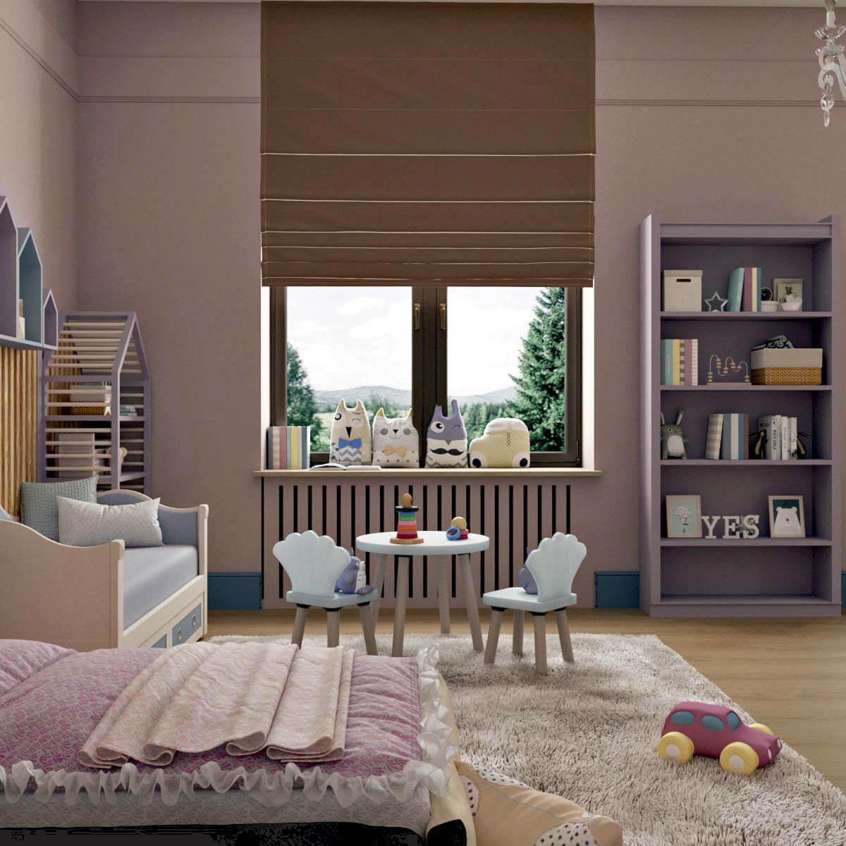 Мебель детской для девочки 5 лет проект 3103-1