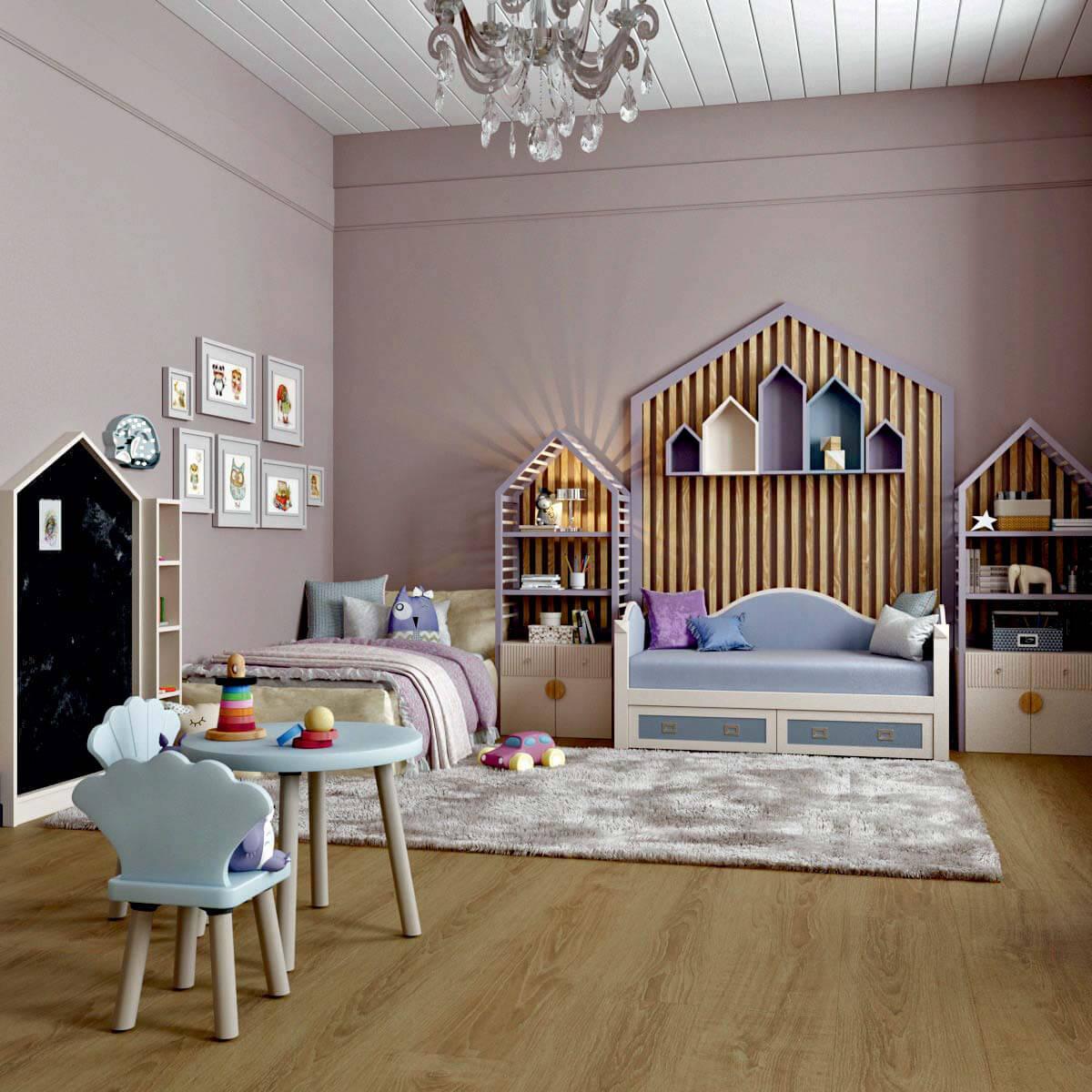 Мебель детской для девочки 5 лет проект 3103-2