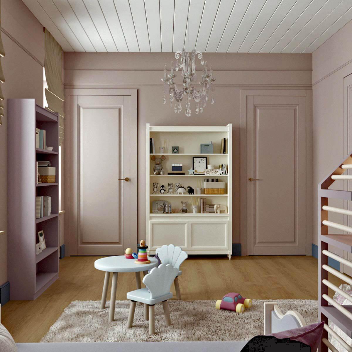Мебель детской для девочки 5 лет проект 3103-3