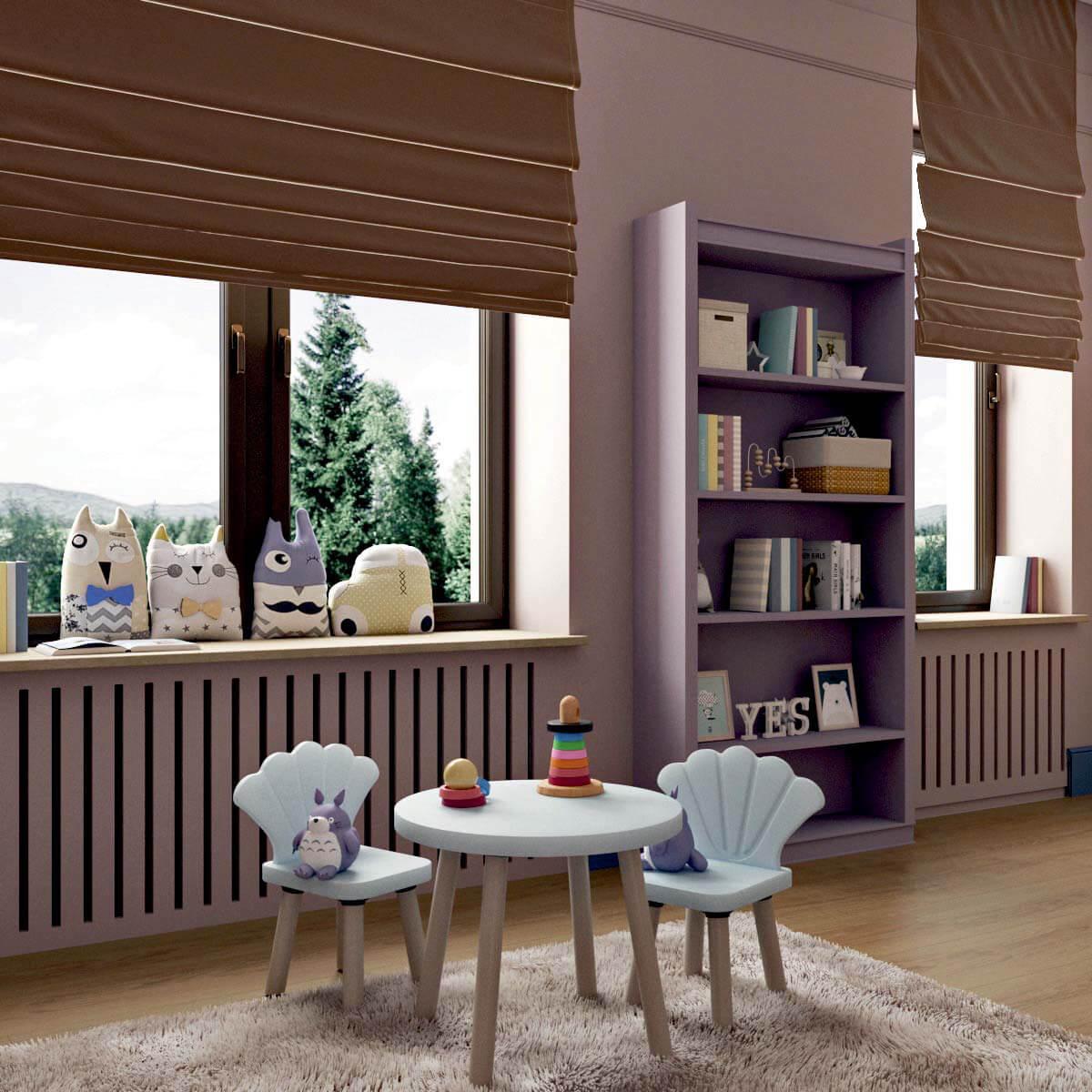 Мебель детской для девочки 5 лет проект 3103-4