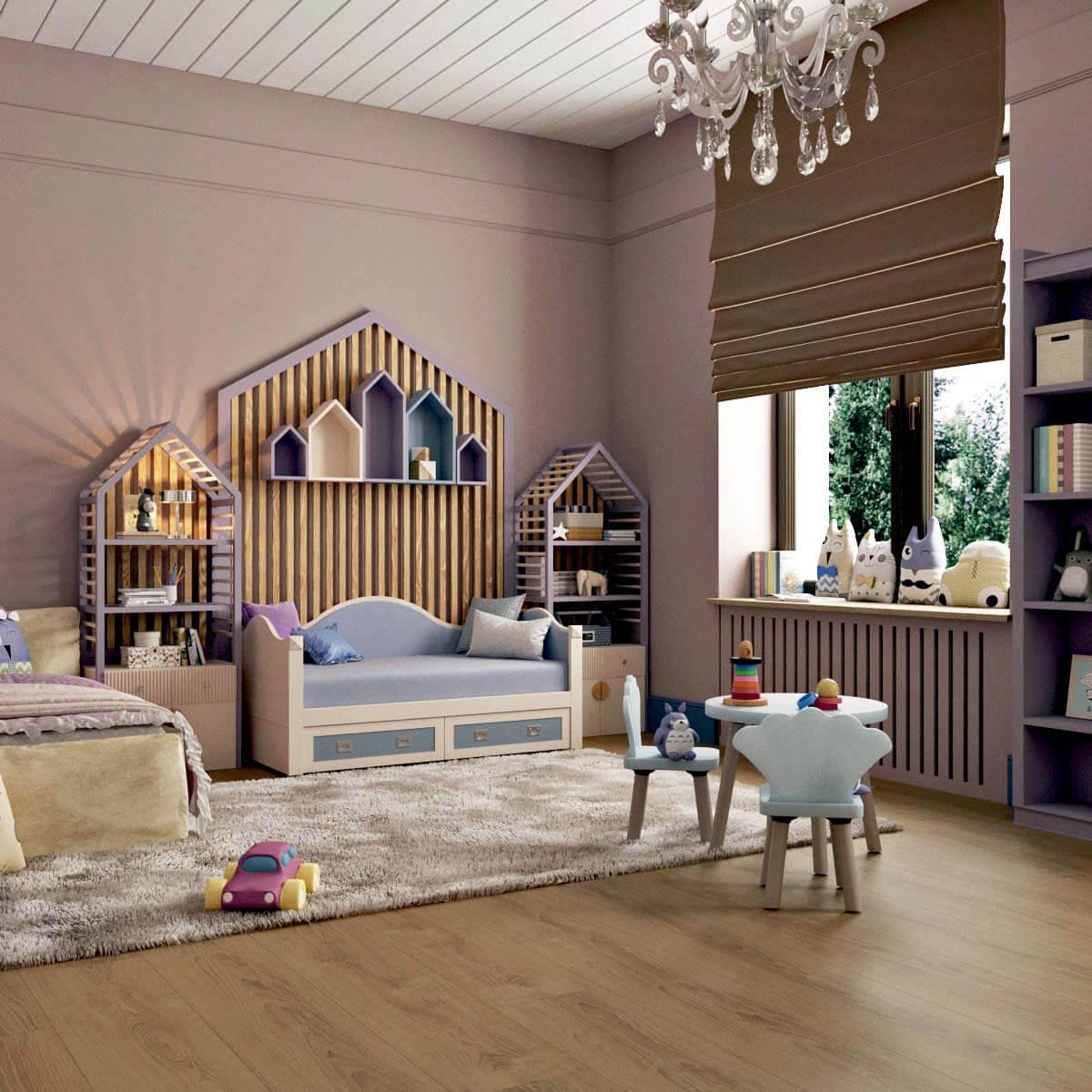 Мебель детской для девочки 5 лет проект 3103-5