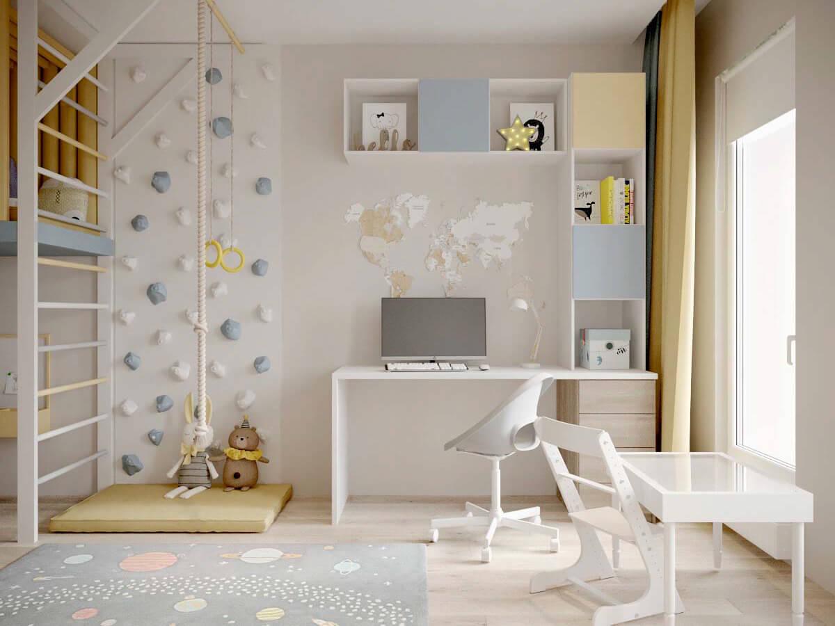 Мебель детской для мальчика-дошкольника проект 3947-2