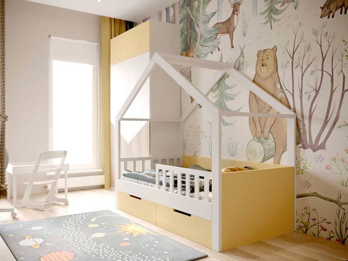 Мебель детской для мальчика-дошкольника проект 3947-3