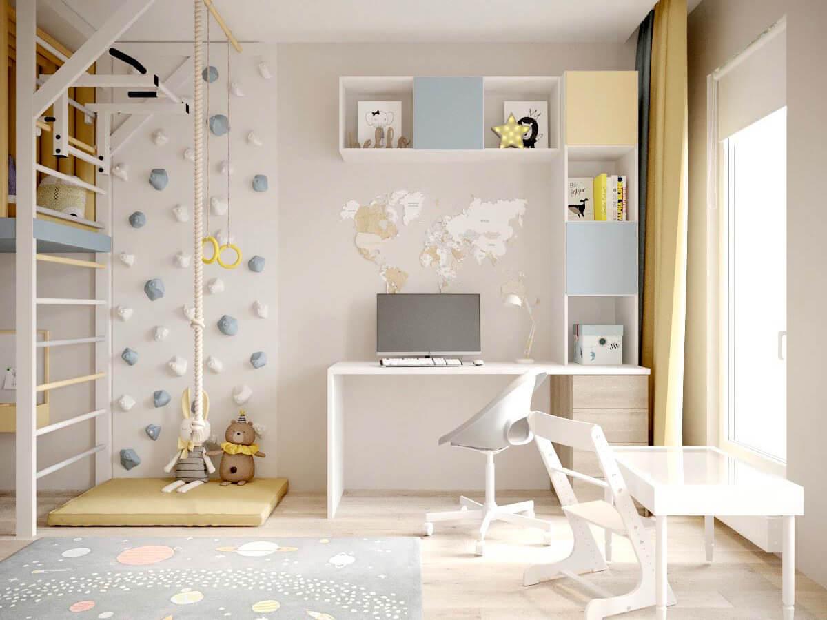 Мебель детской для мальчика-дошкольника проект 3947-4