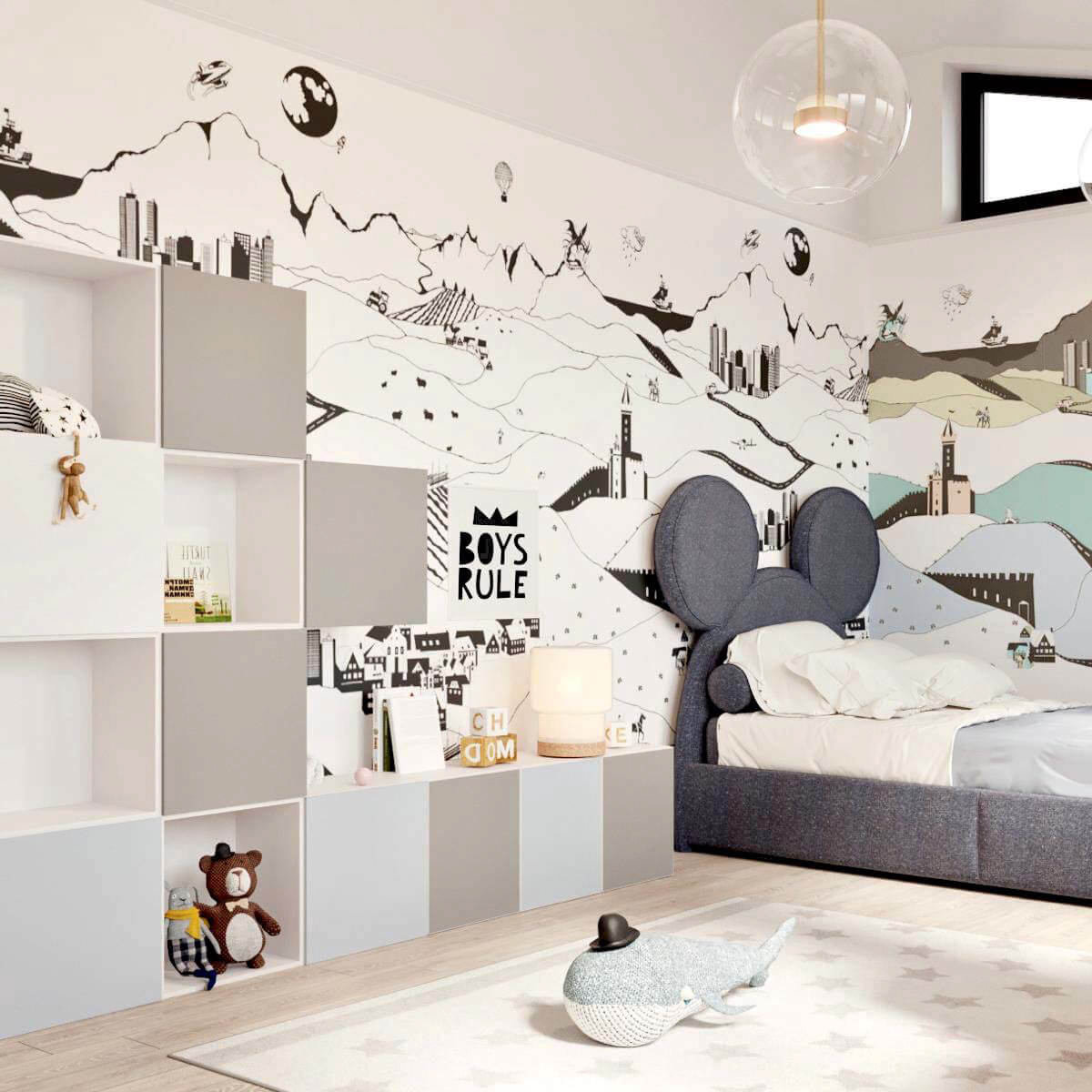 Мебель детской для мальчика-подростка проект 3141-2