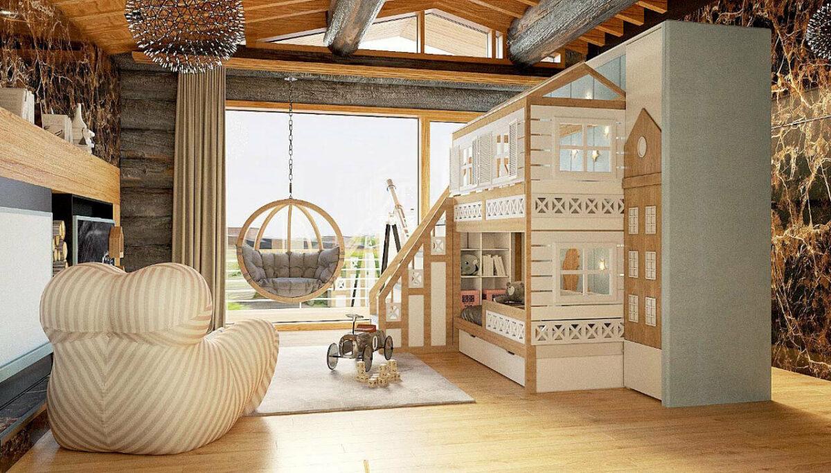 Мебель детской для мальчика-школьника проект 3467-1