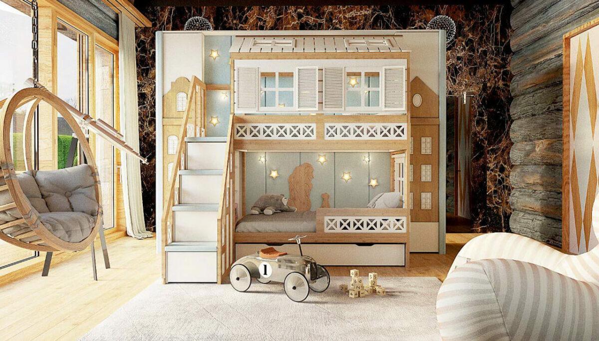 Мебель детской для мальчика-школьника проект 3467-2