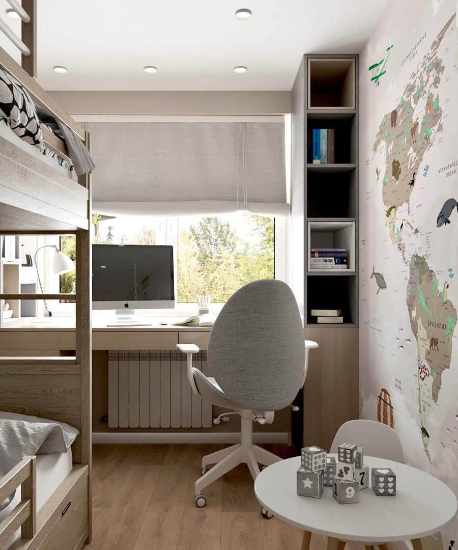 Мебель детской для разнополых детей проект 3545-1