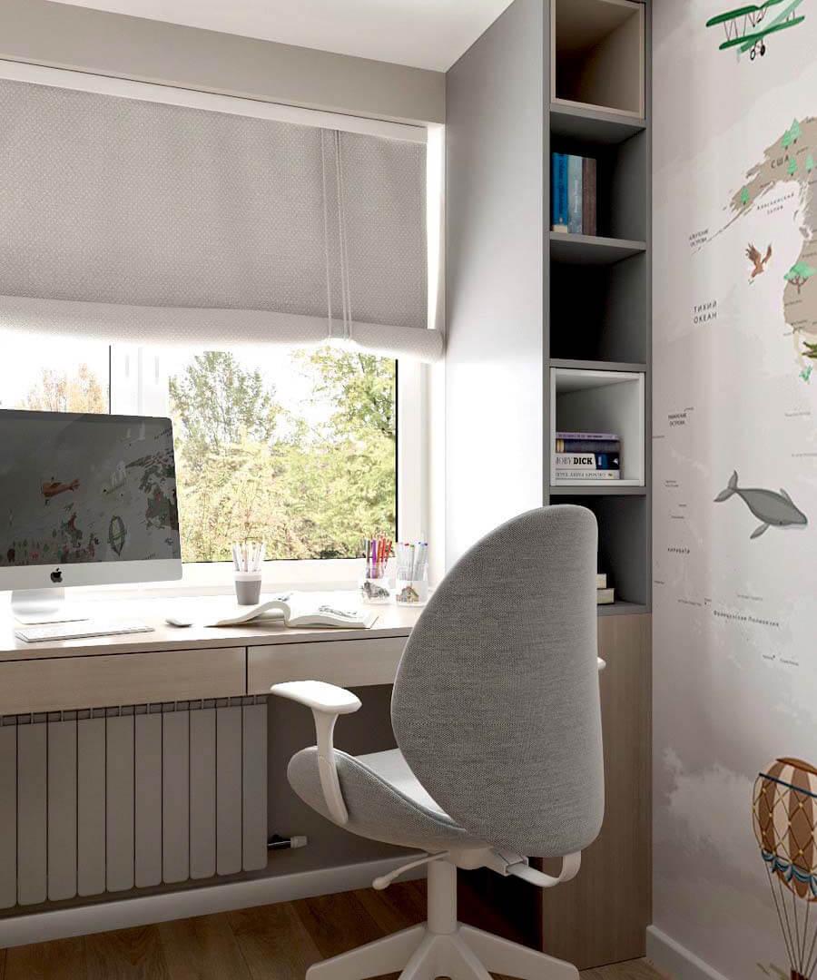Мебель детской для разнополых детей проект 3545-3
