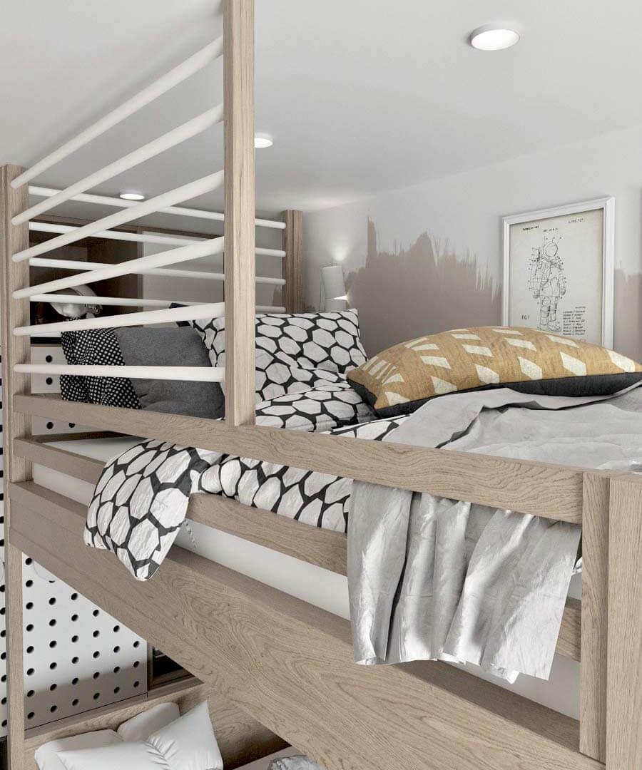 Мебель детской для разнополых детей проект 3545-4