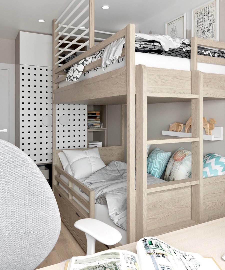 Мебель детской для разнополых детей проект 3545-9