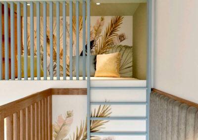 Мебель детской комнаты для мальчика и девочки — проект 3985