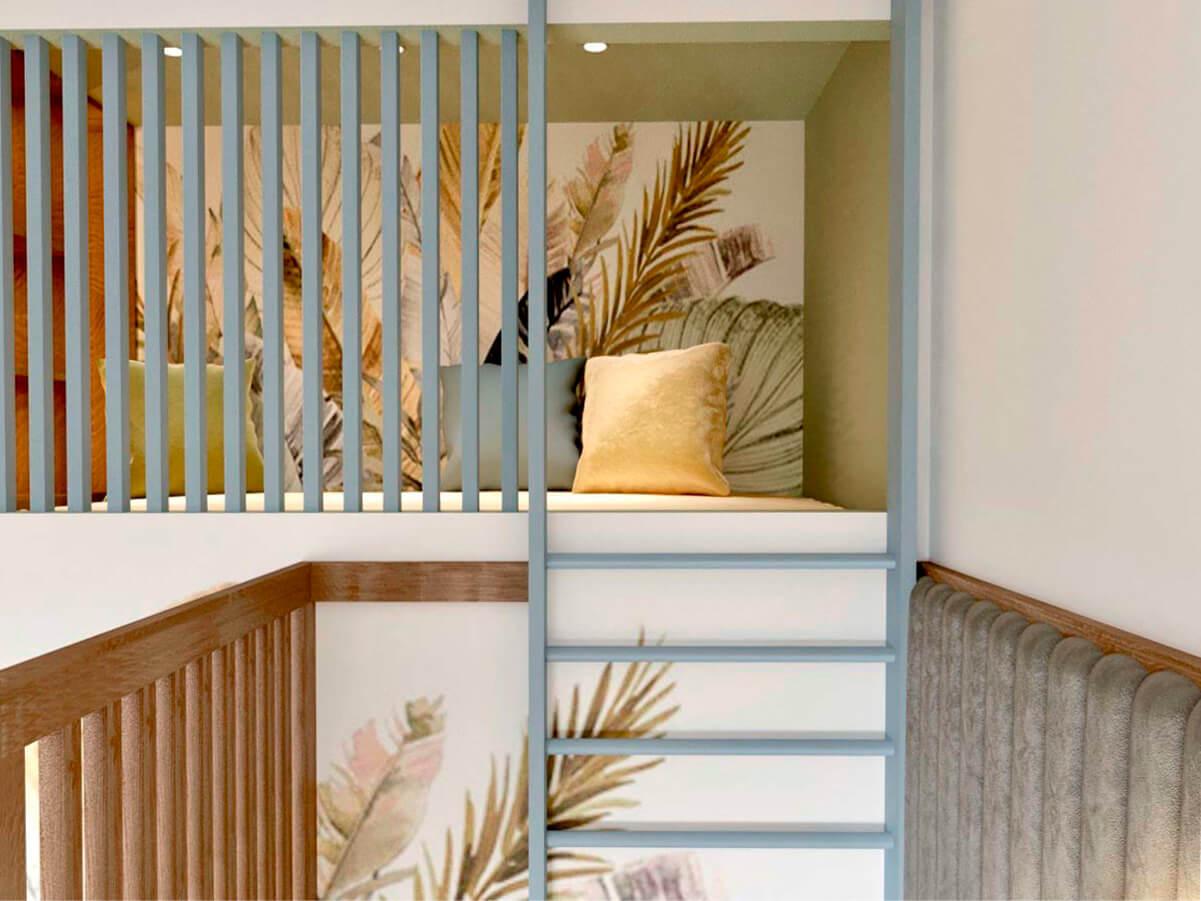 Мебель детской для разнополых детей проект 3985-3