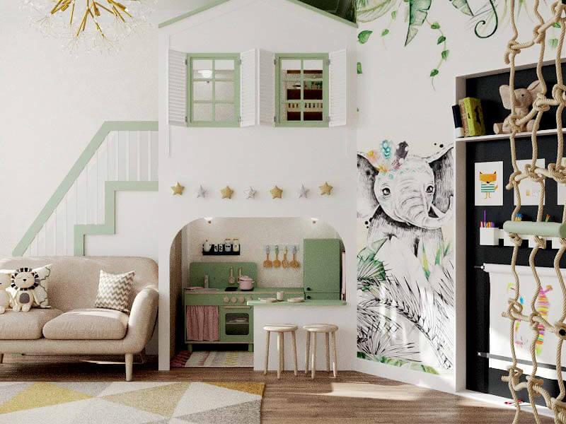 Мебель детской комнаты 2 девочек проект 5435-2