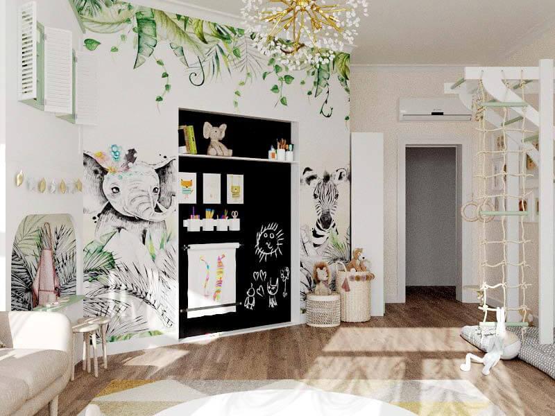 Мебель детской комнаты 2 девочек проект 5435-3