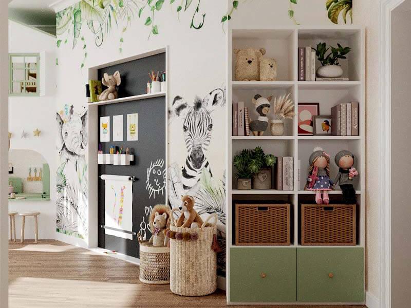 Мебель детской комнаты 2 девочек проект 5435-4