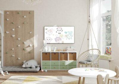 Мебель детской комнаты двух девочек 2 и 4 лет — проект 5435