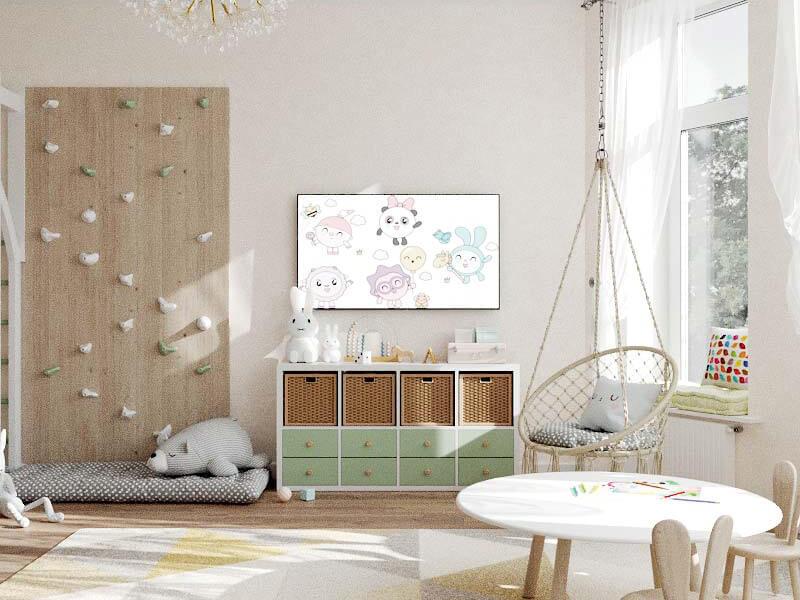 Мебель детской комнаты 2 девочек проект 5435-5