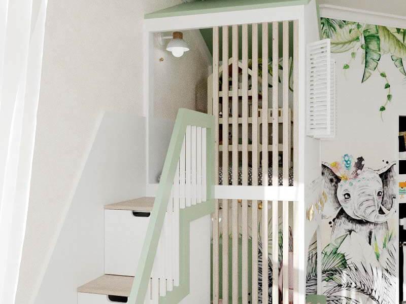 Мебель детской комнаты 2 девочек проект 5435-7