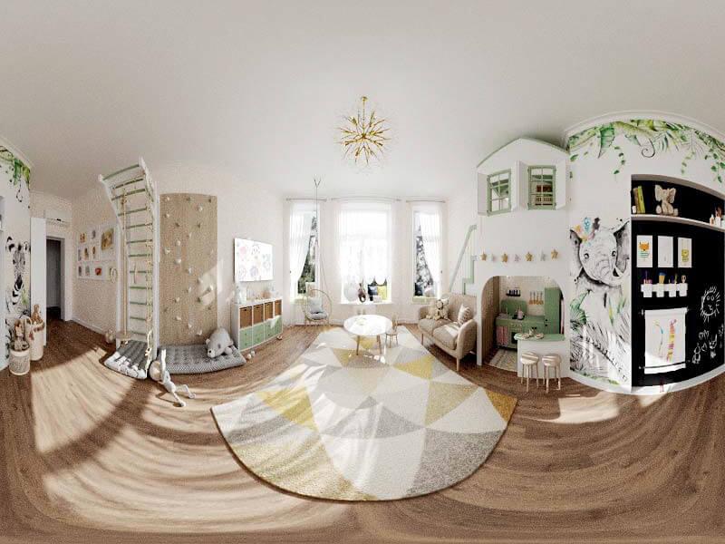 Мебель детской комнаты 2 девочек проект 5435-8