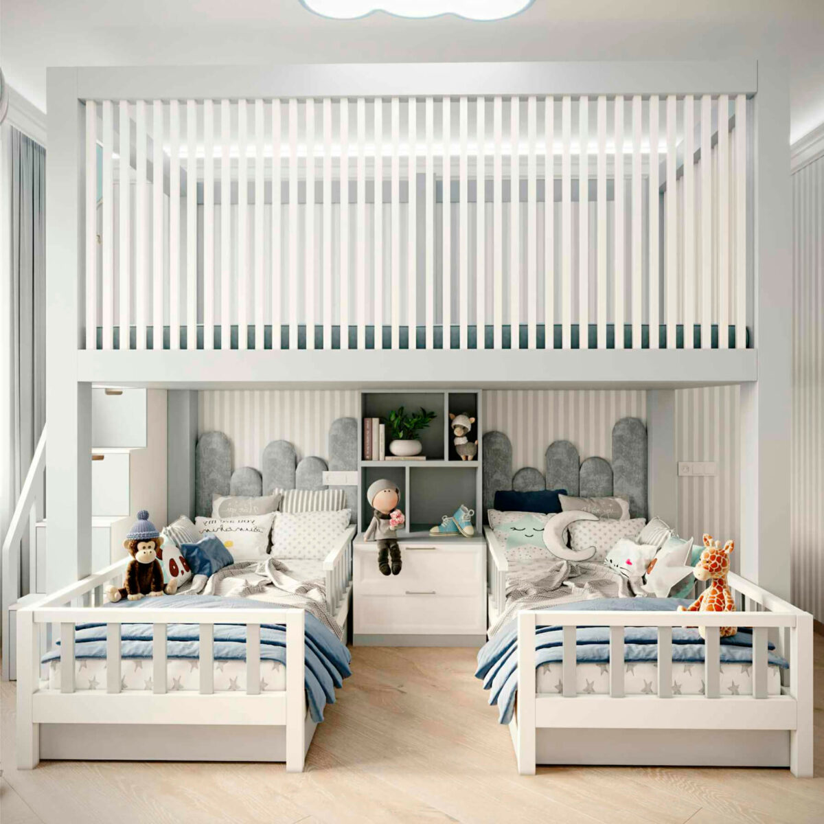 Мебель детской комнаты 2 мальчиков проект 5063-2