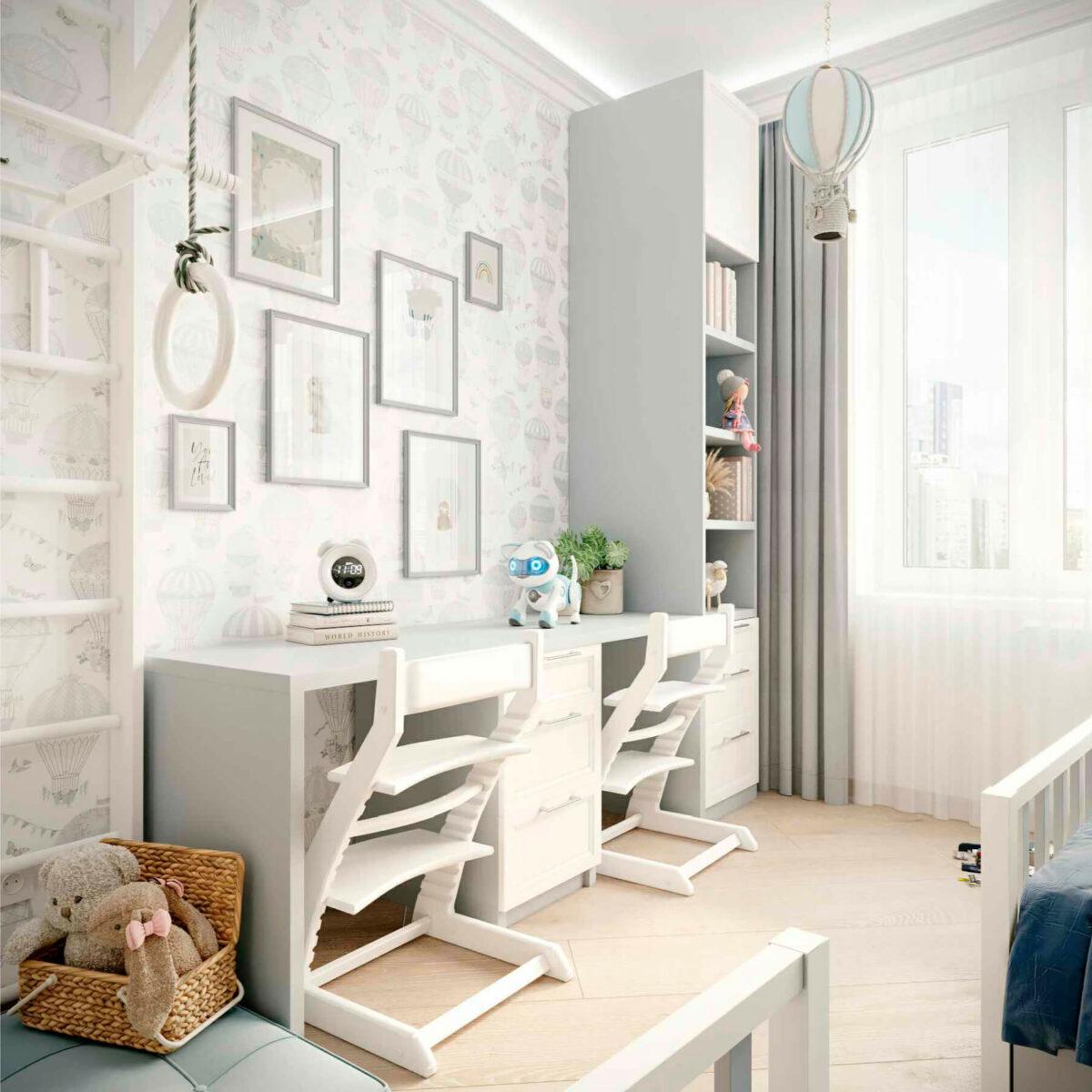 Мебель детской комнаты 2 мальчиков проект 5063-3