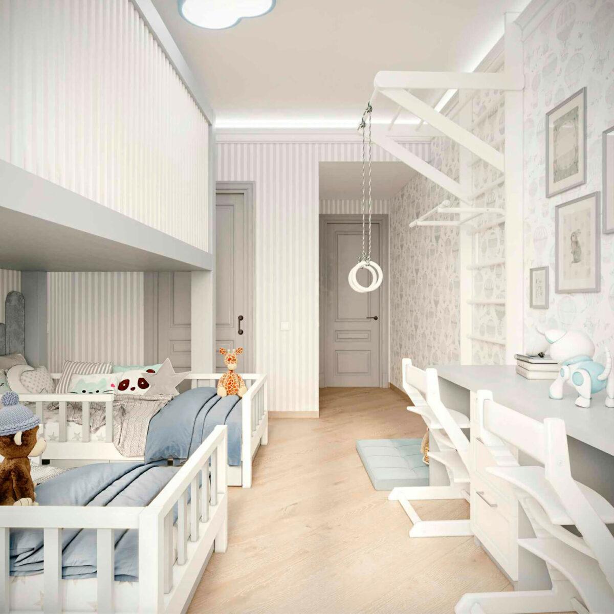 Мебель детской комнаты 2 мальчиков проект 5063-4
