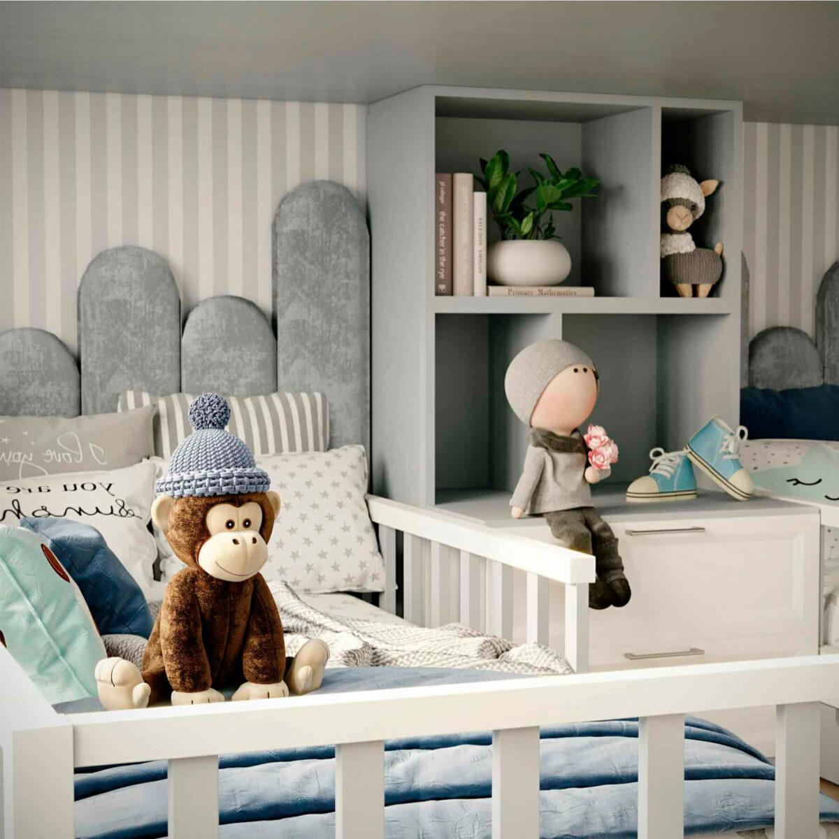 Мебель детской комнаты 2 мальчиков проект 5063-6