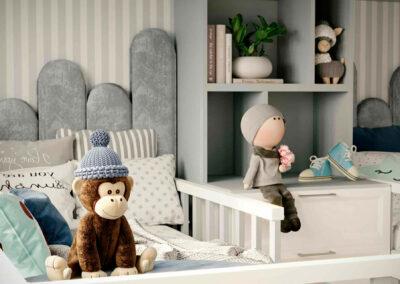 Мебель детской комнаты для двух мальчиков-дошкольников — проект 5063