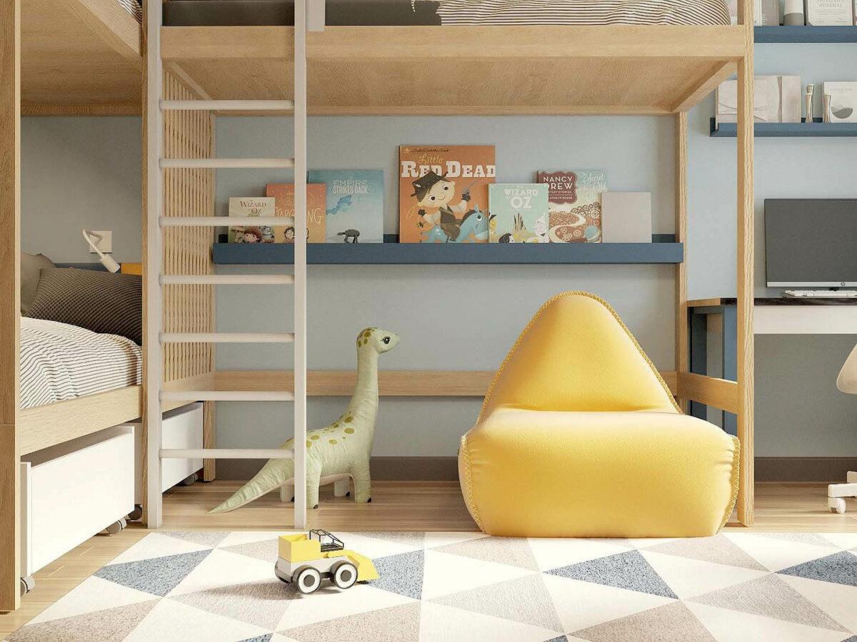 Мебель детской комнаты 3 мальчиков проект 5377-2