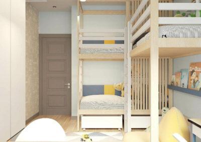 Мебель в детскую комнату для трех мальчиков разного возраста — проект 5377